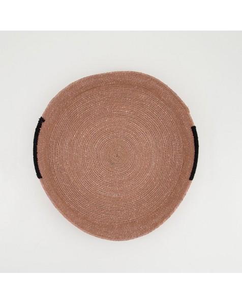 Rust & Dusty Pink Basket Tray -  rust-dustypink
