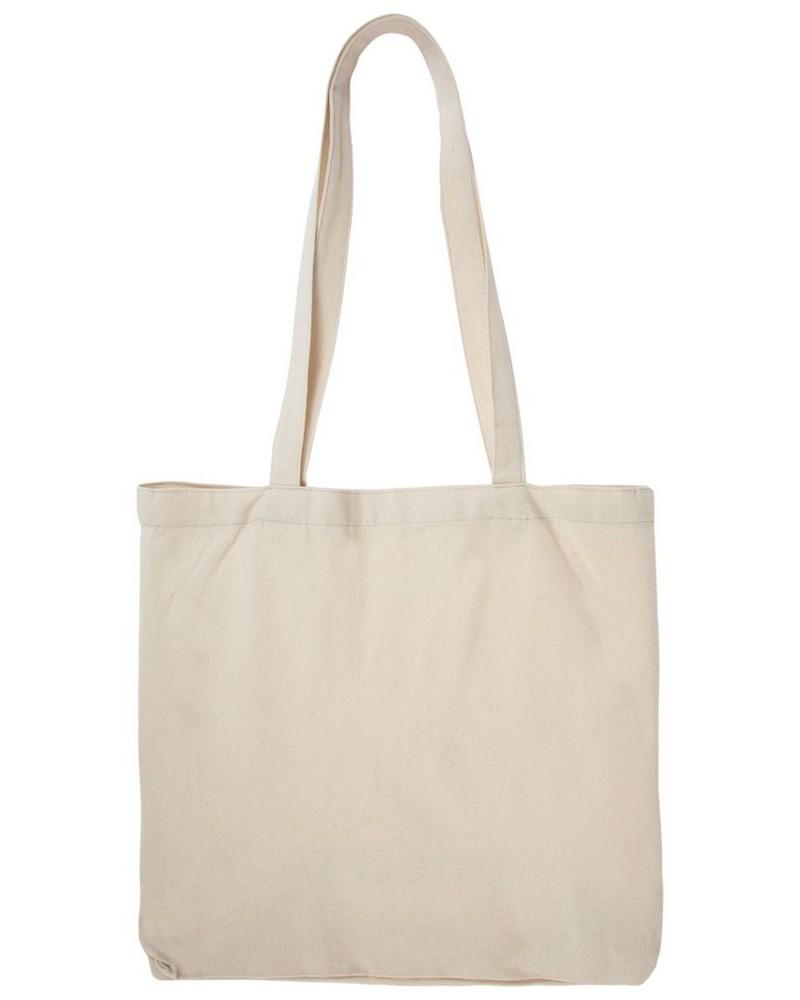 Canvas Shopper Tote Bag -  milk