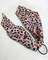 Pink Dotted Hair Tie -  pink-blue
