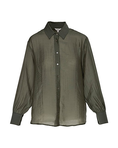Clarissa Sheer Blouse -  olive