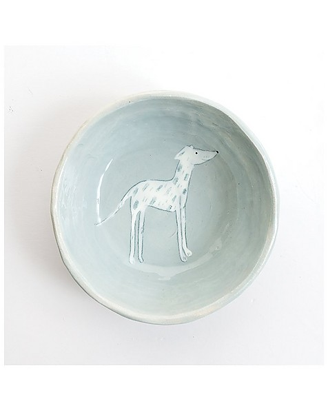 Gemma Orkin Light Grey Greyhound Dog Snack Bowl -  lightgrey