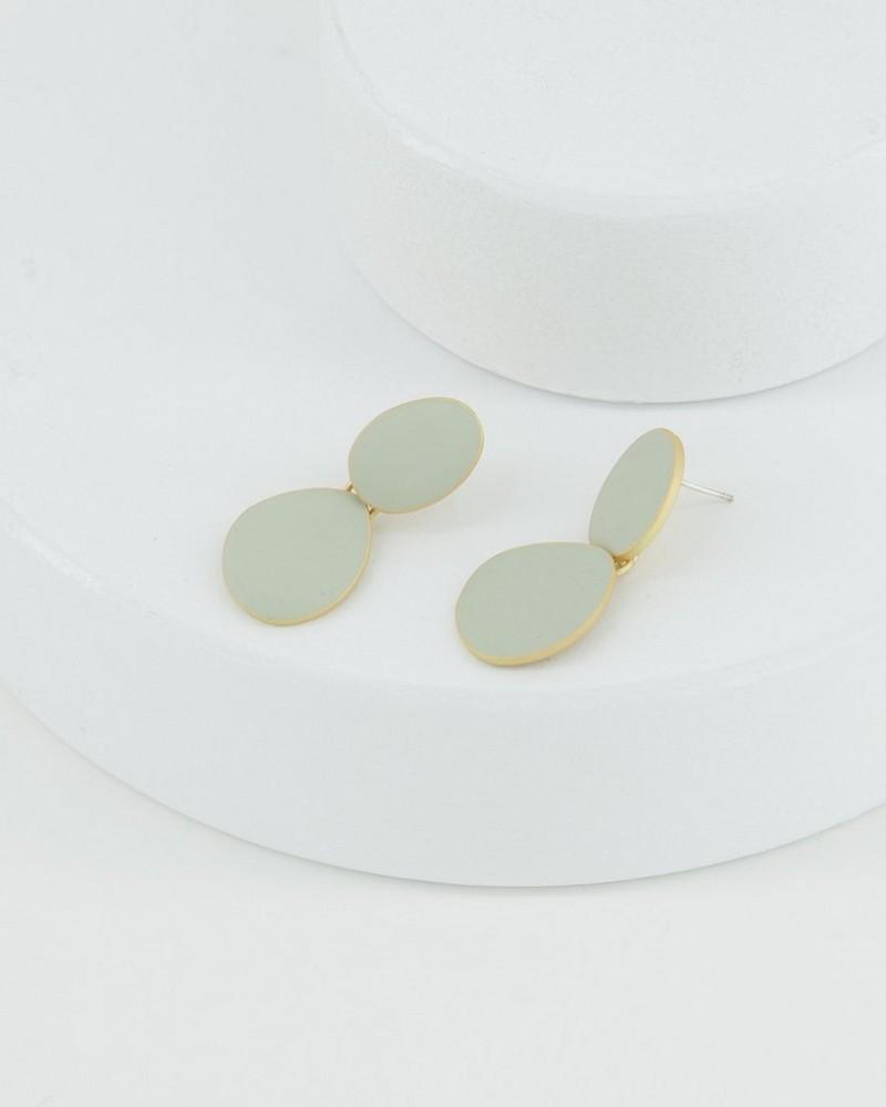 Detail Drop Earrings -  stone