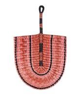 Pink Straw Fan -  pink-rust