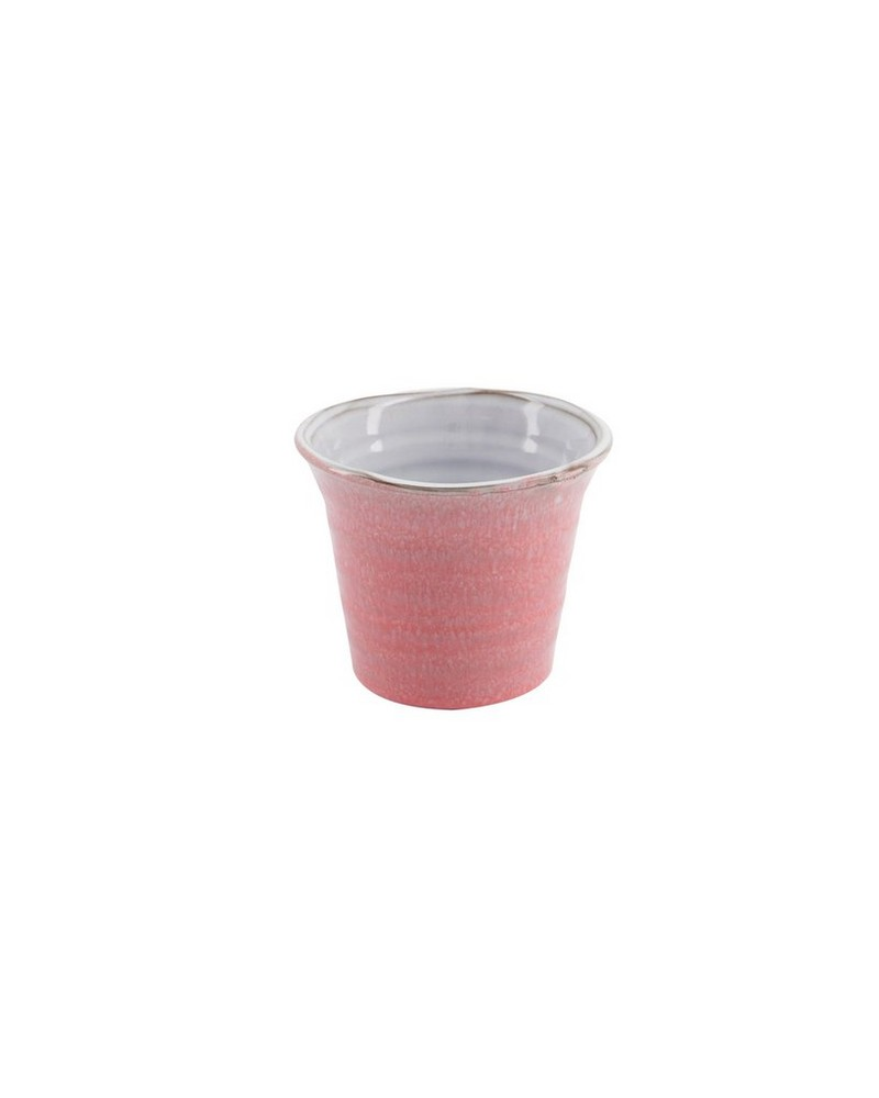 Small Dusty Pink Mottled Planter -  pink