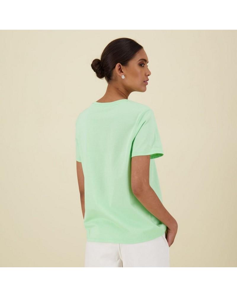 Des Cotton T-Shirt -  mint