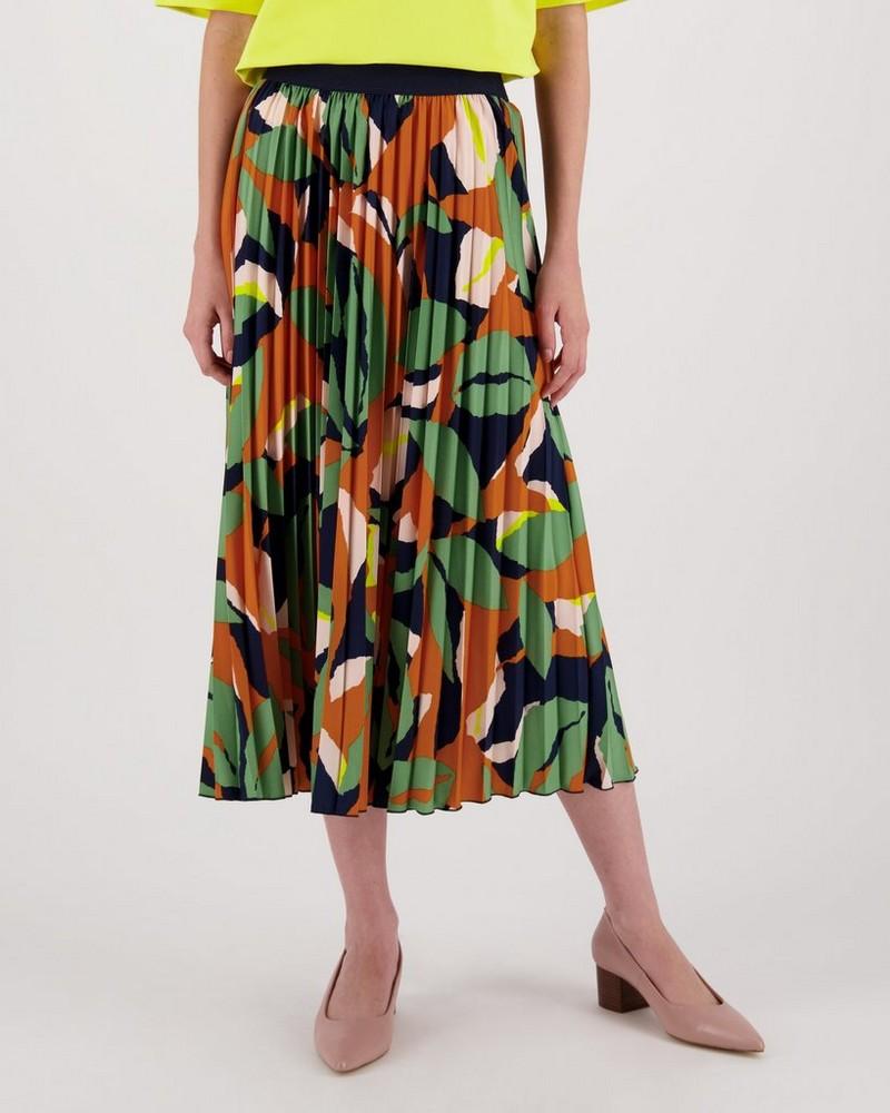 Ulrica Printed Skirt -  orange