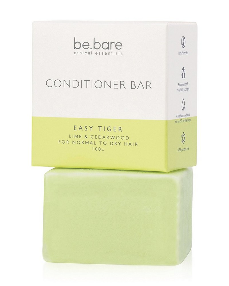 Be Bare: Easy Tiger Conditioner Bar -  green