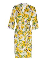 Rosebud Floral Gown -  blue-yellow