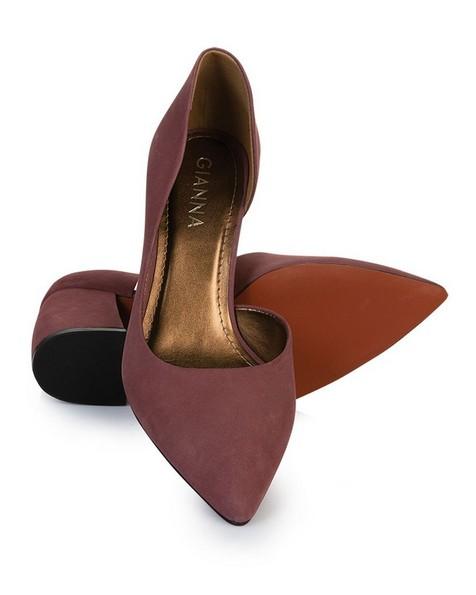 GIANNA Curved Block Heel -  mauve
