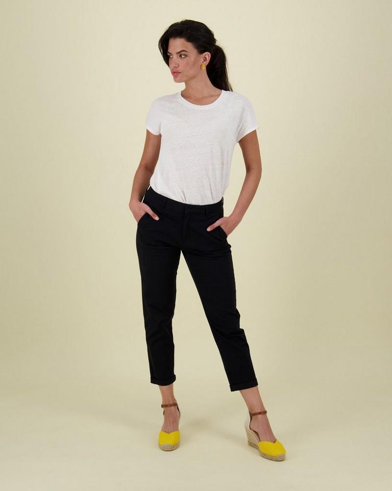 Cora Structured Pants -  black