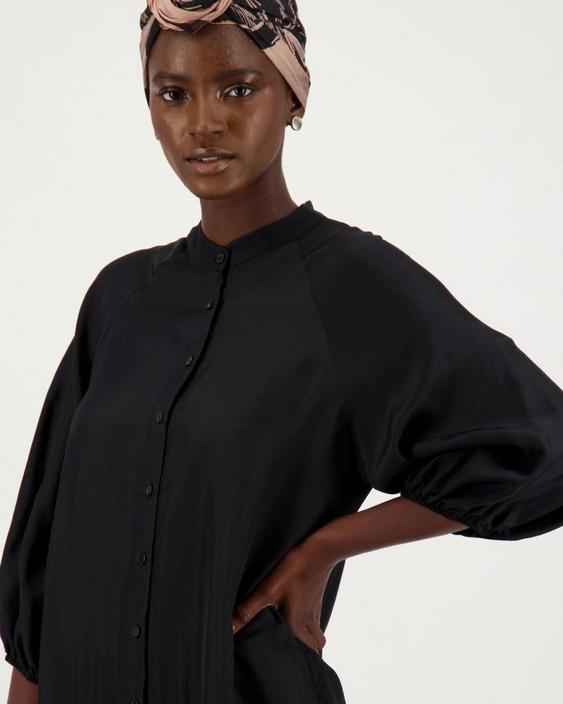 True Ruffle Dress -  black