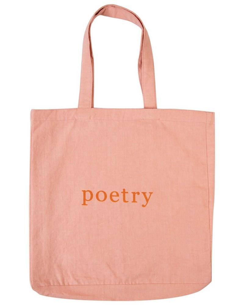 Blush Canvas Tote Bag -  palepink-orange