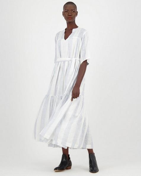 Gwen A-Line Dress -  navy