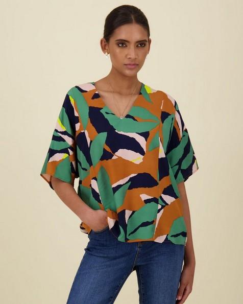 Masha Printed Top -  orange