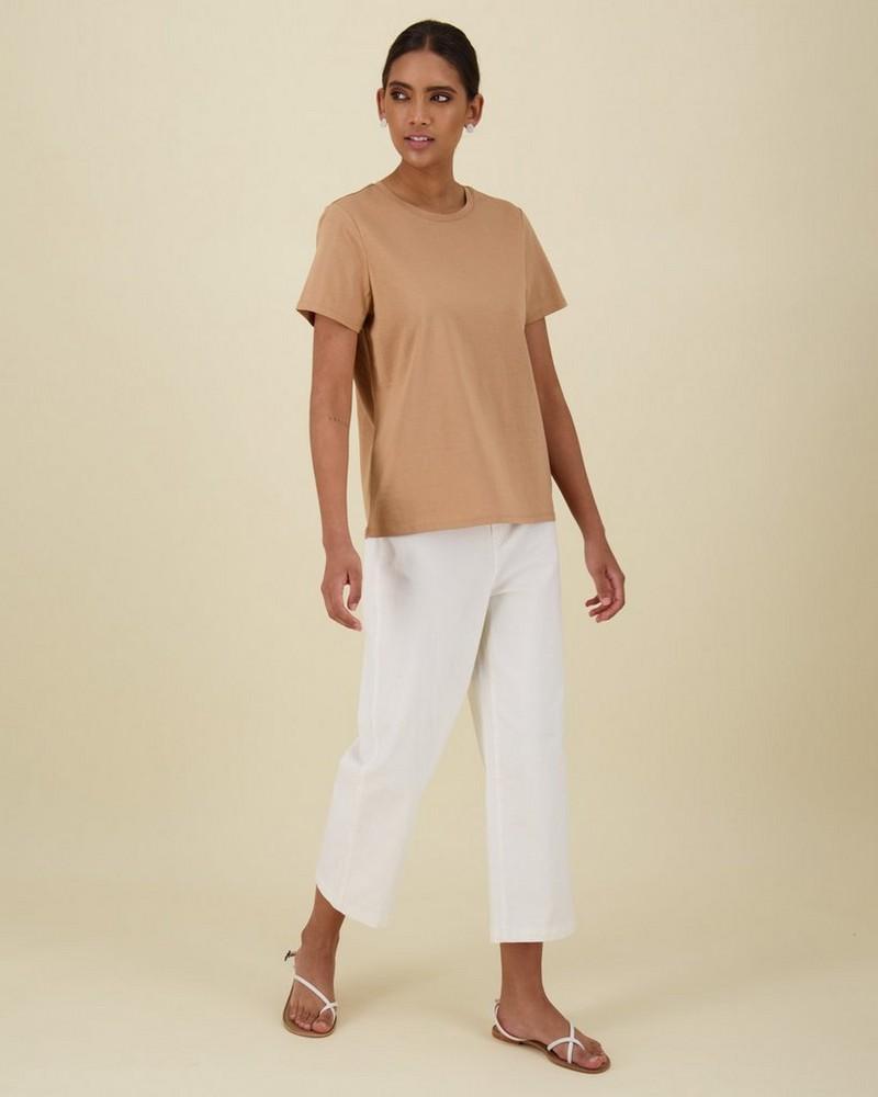 Des Cotton T-Shirt -  stone
