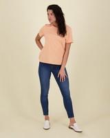 Des Cotton T-Shirt -  orange