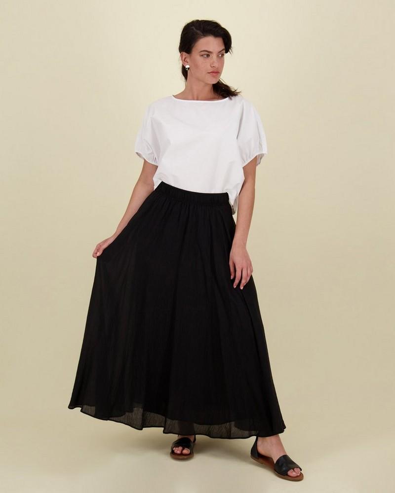 Raina Organdy Skirt -  black