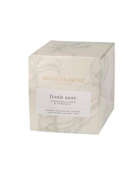 Amanda Jayne Fresh Zest Candle in Glass -  white-black