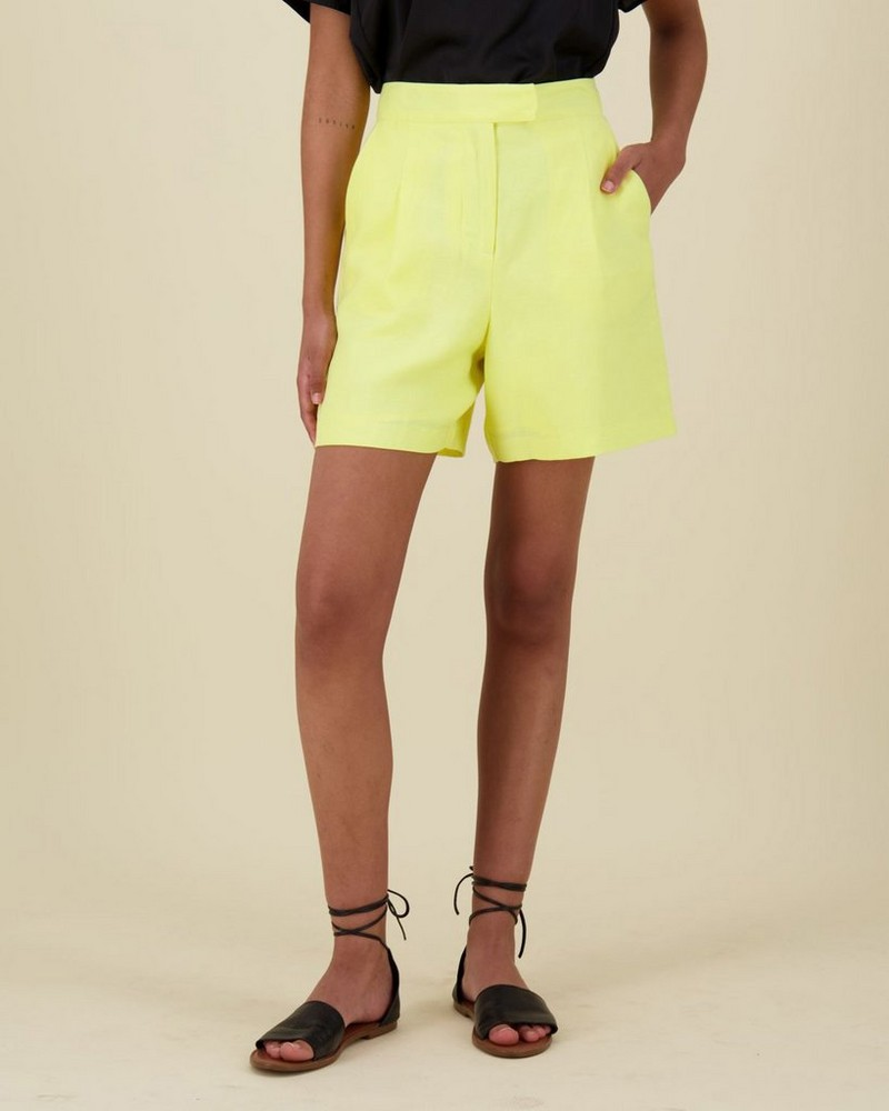 Lauren Bermuda Short -  yellow