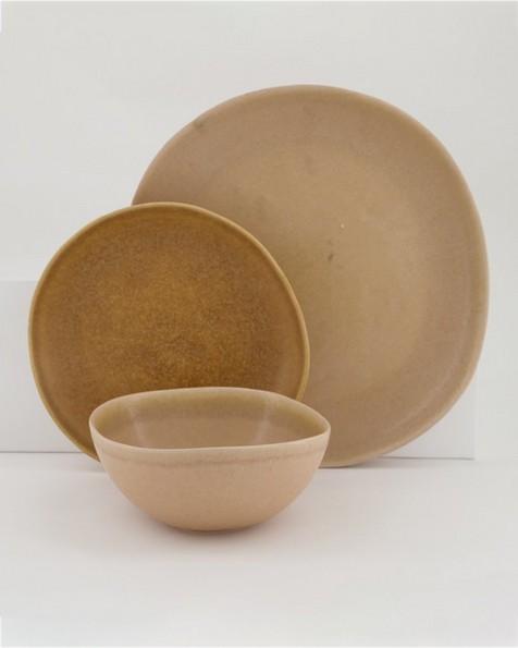 Nora Large Organic Platter -  dustypink