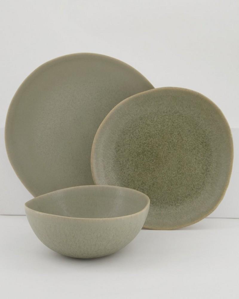 Nora Small Organic Platter -  sage