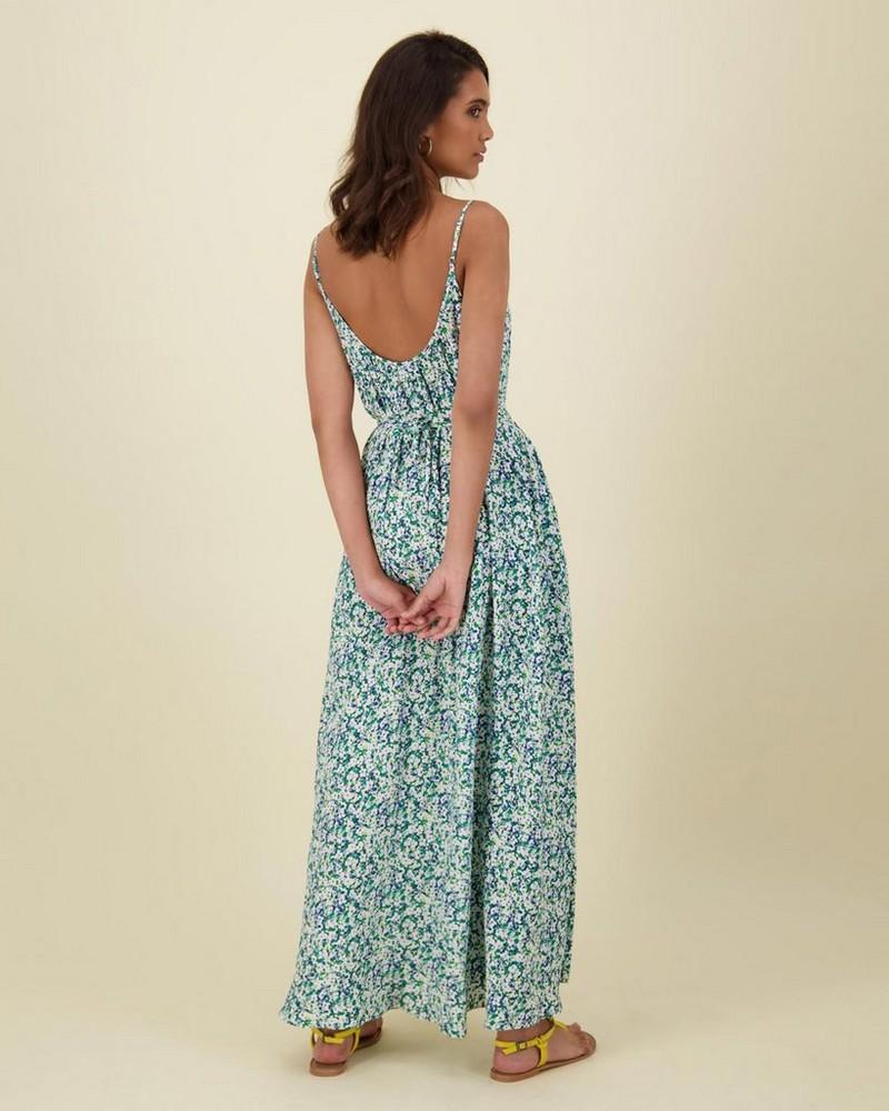 Adina Fit & Flare Dress -  green