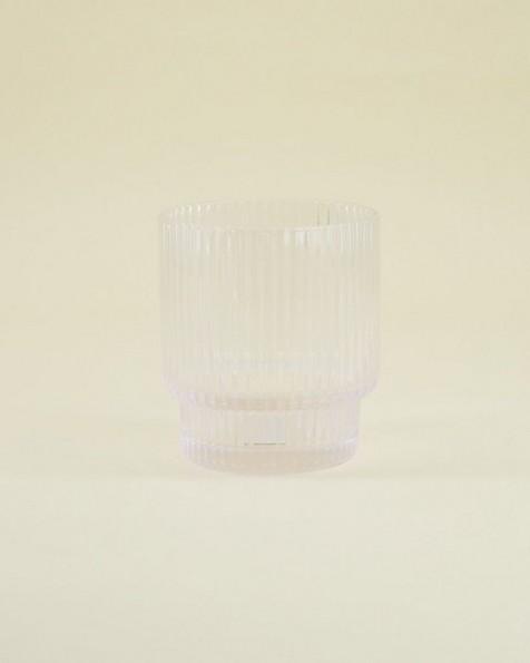 Short Ribbed Glass -  nocolour