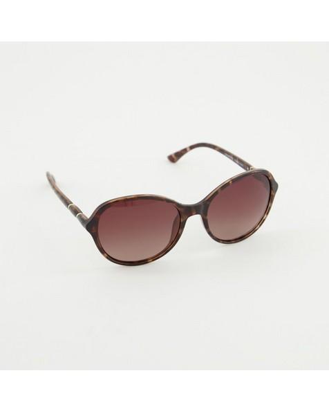 Polarised Classic Tortoiseshell Sunglasses -  grey-brown