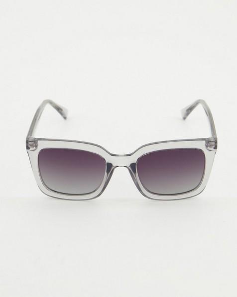 Polarised Heavy Modern Classic Sunglasses -  grey-grey