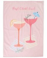 Pop Fizz Clink Tea Towel -  assorted