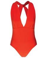Joy One-Piece Swimsuit -  orange