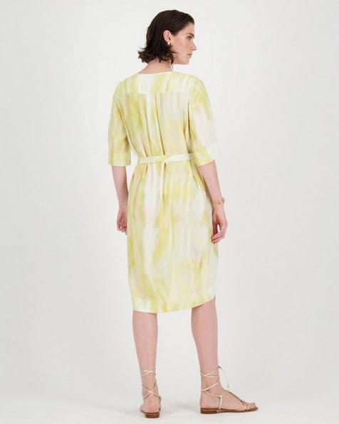 Carmen Abstract Print Dress -  pink