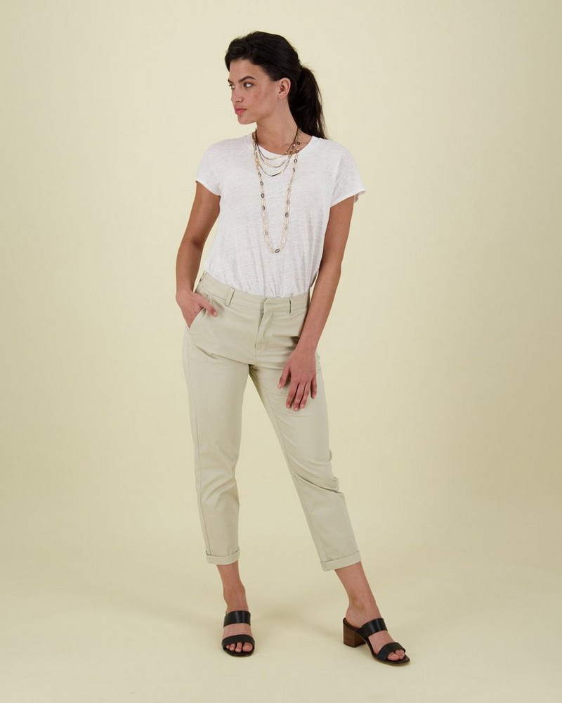 Cora Structured Pant -  stone