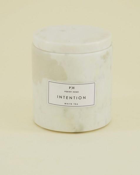 White Marble Votive White Tea Candle -  white
