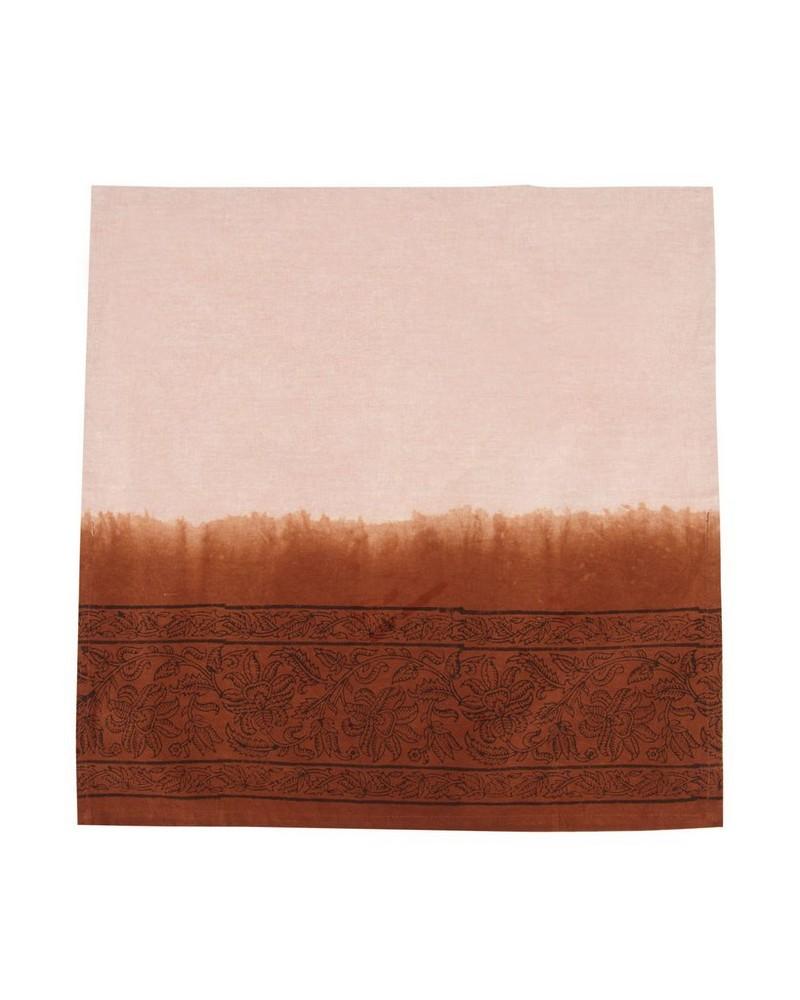 Rust Tie Dye Napkin Set -  rust-black