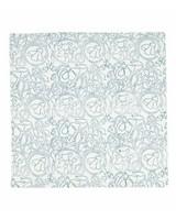 Blue Floral Napkin Set -  blue-white