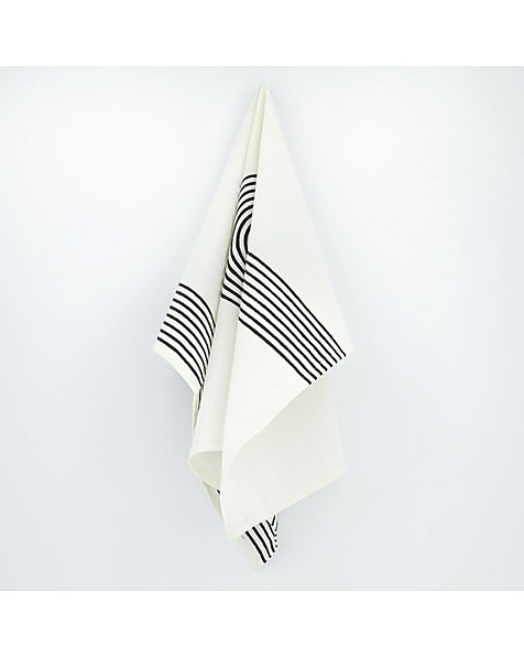 Malakos Graphic Tea Towel -  white-black