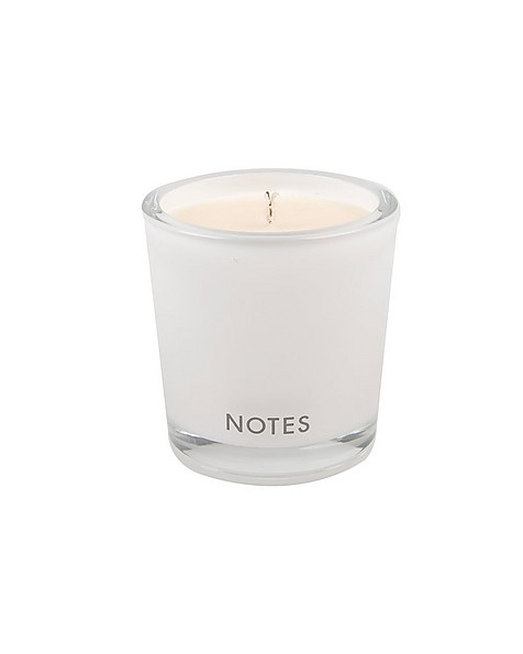 Notes C Candle -  black-white