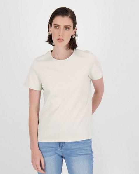 Des Cotton T-Shirt -  milk