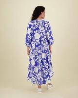 Emma Printed Resort Dress -  blue