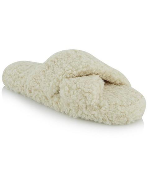 Crossover Slippers -  milk