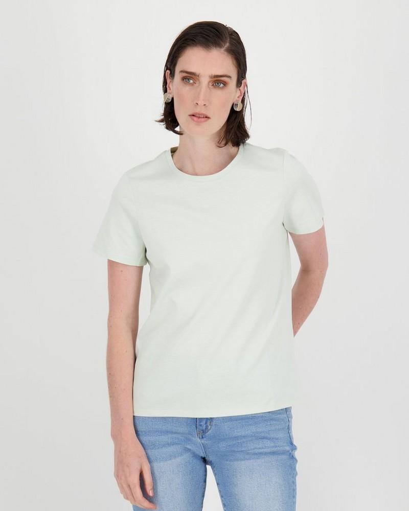 Des Cotton T-Shirt -  sage
