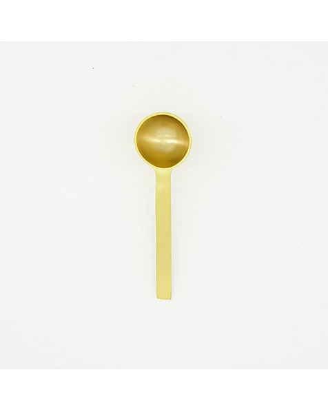 Brushed Brass Coffee Scoop -  gold