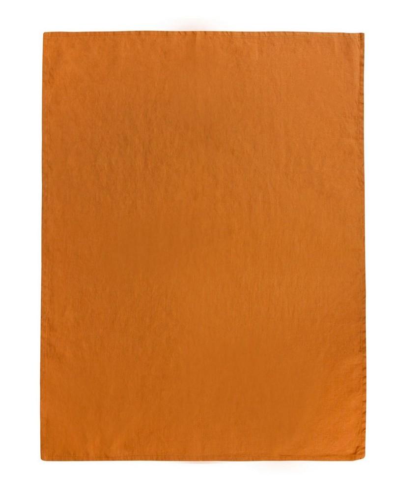 Spruce Linen Tea Towel -  rust