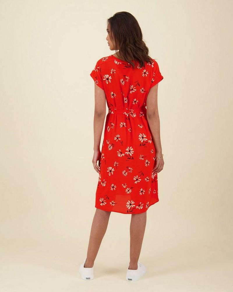 Gemma Tunic Dress -  red