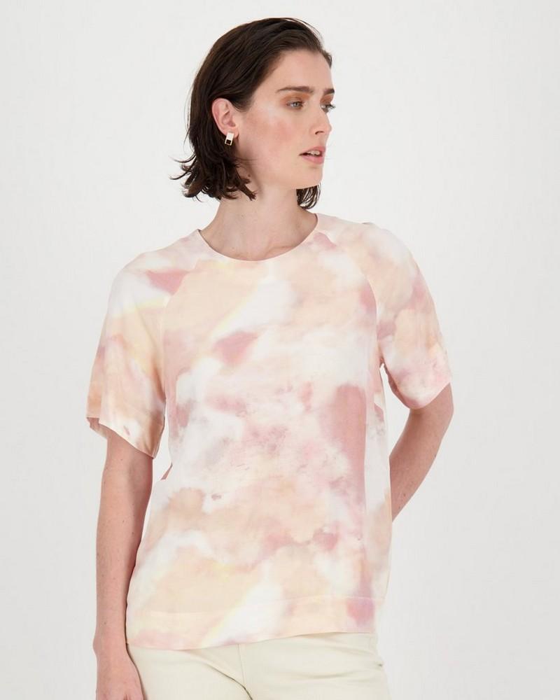 Adair Printed Blouse -  pink
