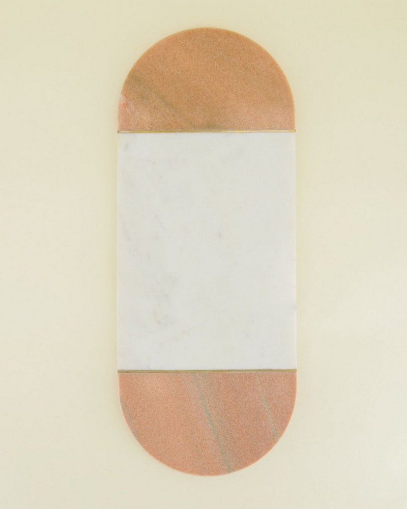 Pink & White Marble Board -  pink-white