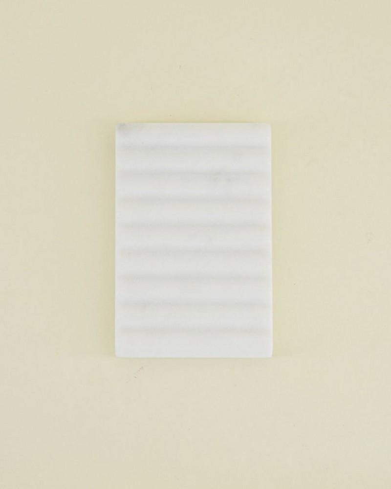 White Ridge Soap Dish -  white-grey