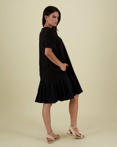 Wei Tiered Dress -  black