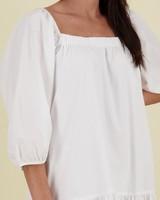 May Poplin Dress -  white